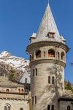 Savoia-Schloss in Gressoney Stockbild