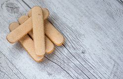 Savoiardi biscuits Royalty Free Stock Image