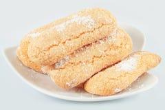 Savoiardi Cookies, Ladyfingers Royalty Free Stock Image