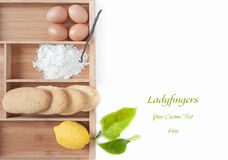 Savoiardi Ingredients Royalty Free Stock Photography