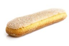 Savoiardi italian sponge biscuit isolated on white. Stock Image