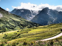 Savoie Mountaines in France Royalty Free Stock Photo