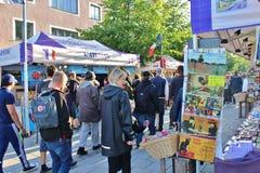Savon在国际街市上的de普罗旺斯 免版税库存照片