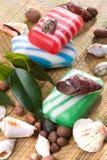 Savon avec des seashells photographie stock