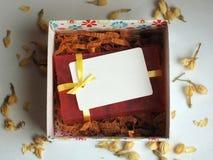 Savon dans un boîte-cadeau Photo stock