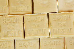 Savon de Marseille soap in the form of a cube Royalty Free Stock Image