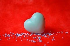 Savon en forme de coeur bleu Photos libres de droits