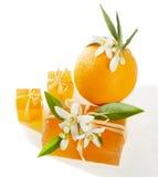 Orange de savon photos stock