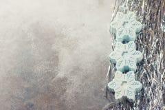 Savon fait main sous forme de flocons de neige, concept naturel de cosmétiques Place pour le texte Image stock