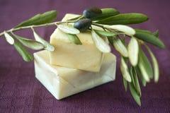 Savon olive Photos libres de droits