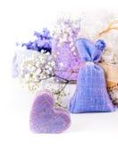 Savon parfumé de lavande Photo stock