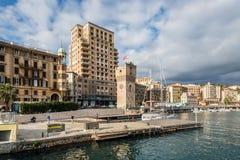 Savona άποψη προκυμαιών πόλεων, Ιταλία Στοκ Εικόνα