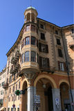 Savona. A old house in the the marina of Savona - Italy Royalty Free Stock Photos