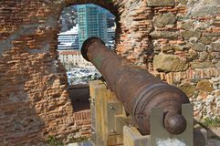 Savona - Cannon in Priamar fortress Stock Images