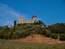 Savona castle view Italy. Savona castle view on bright day with blue sky Stock Images