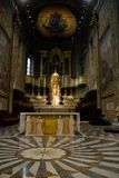 Savona Ołtarzowy kościół, religii sztuki, wiara, podróż Włochy zdjęcie stock