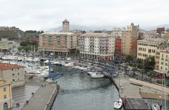 Savona - the port. View of the port of Savona, in Italy Royalty Free Stock Photo