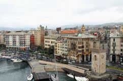 Savona - the port and the Torretta Stock Photo