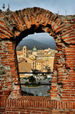 Savona view of the window of the fortress Royalty Free Stock Image