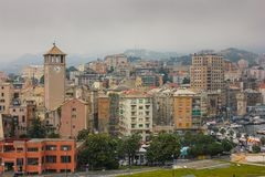 Savona viewed from the Priamar fortress. Liguria, Italy Royalty Free Stock Photography