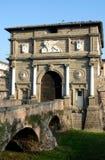 Savonaroladeur één van de oude die poorten in middeleeuwse mureninveneto Padua worden gevonden (Italië) Royalty-vrije Stock Afbeelding