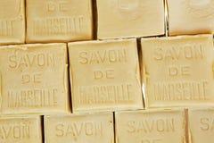 Savonde Marseille zeep in de vorm van een kubus royalty-vrije stock afbeelding