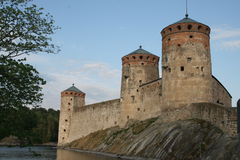 Savonlinea Castle. In Finland which is used for Opera during the summer Royalty Free Stock Image