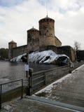 Savonlinna castle in spring Royalty Free Stock Image