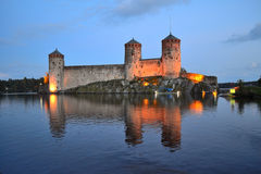 Savonlinna,. Fortress Olavinlinna Royalty Free Stock Photography