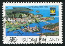 Savonlinna Municipal Charter. FINLAND - CIRCA 1989: stamp printed by Finland, shows Savonlinna Municipal Charter, circa 1989 royalty free stock image