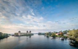 Savonlinna panorama Stock Photos