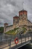 savonlinna zamek średniowieczny Finlandia Obraz Stock