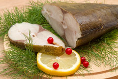 Savorin smoked and lemon slice Stock Images