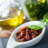 Savory accompaniments served in a restaurant Stock Photo