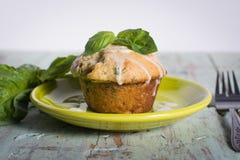 Savory banana basil muffin Royalty Free Stock Images