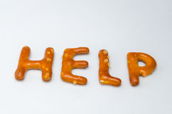 Savory biscuits letters Help Stock Image