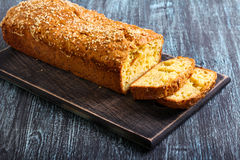 Savory bread loaf with sesame Stock Photo