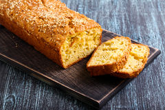 Savory bread loaf Stock Photography
