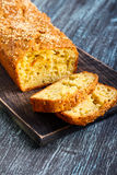 Savory bread loaf with sesame Royalty Free Stock Images