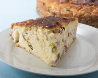 Savory cake with ham and cheese Royalty Free Stock Images