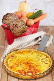 Savory Cake With Vegetables Stock Photography