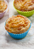 Savory cheese and bacon muffins Royalty Free Stock Photo