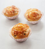 Savory cheese and bacon muffins Royalty Free Stock Photos