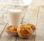 Savory cheese and bacon muffins Stock Images