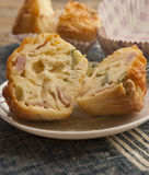 Savory cheese and bacon muffins Royalty Free Stock Image