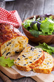 Savory cheese loaf with olives Stock Image