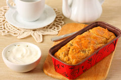 Savory cheese loaf Royalty Free Stock Photography