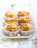 Savory courgette, herbs and feta muffins Royalty Free Stock Photography