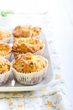 Savory courgette, herbs and feta muffins Royalty Free Stock Image