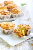 Savory courgette, herbs and feta muffins Royalty Free Stock Photo